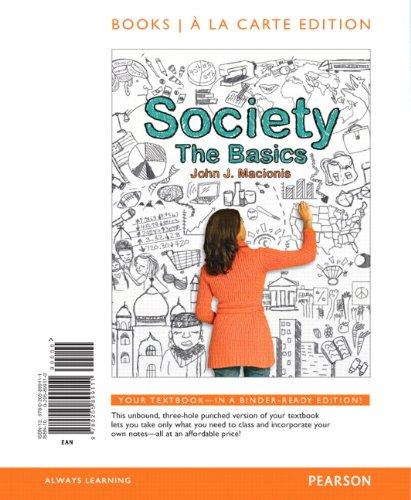 9780205899111: Society: The Basics, Books a la Carte Edition (12th Edition)