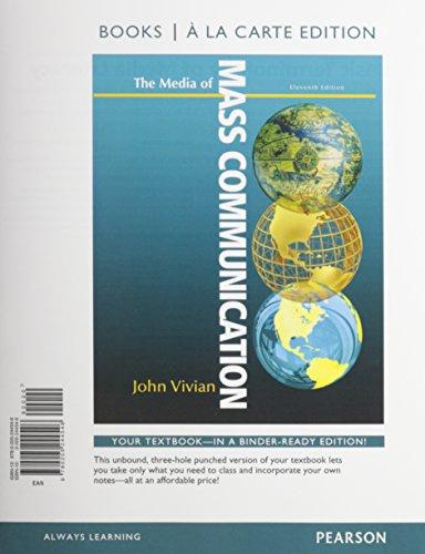 Media of Mass Communication, Books a la: John Vivian