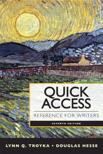 9780205903610: Quick Access Reference for Writers (7th Edition)