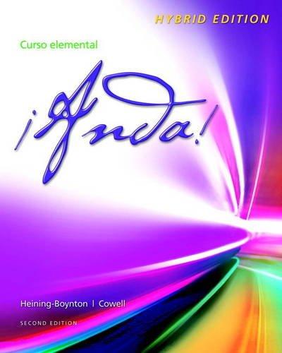 9780205905232: ¡Anda! Curso elemental, Hybrid Edition