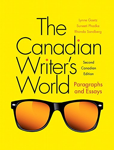 9780205909346: The Canadian Writer's World: Paragraphs and Essays (2nd Edition)