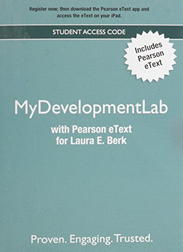 9780205909742: NEW MyDevelopmentLab with Pearson eText -- Valuepack Access Card -- for Laura E. Berk
