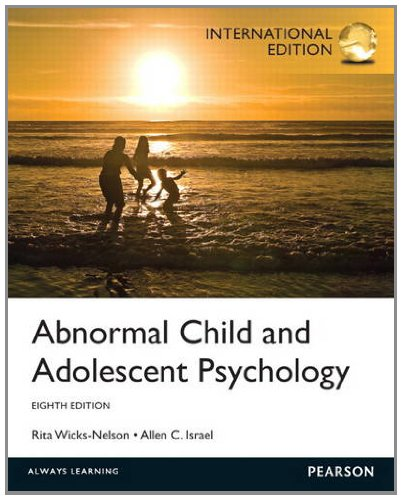9780205911844: Abnormal Child and Adolescent Psychology: International Edition
