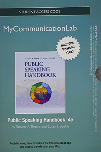 9780205913053: NEW MyCommunicationLab with Pearson eText -- Standalone Access Card -- for Public Speaking Handbook (4th Edition) (Mycommunicationlab (Access Codes))