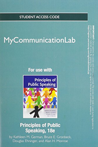 9780205913060: NEW MyCommunicationLab without Pearson eText -- Standalone Access Card -- for Principles of Public Speaking (18th Edition) (Mycommunicationlab (Access Codes))