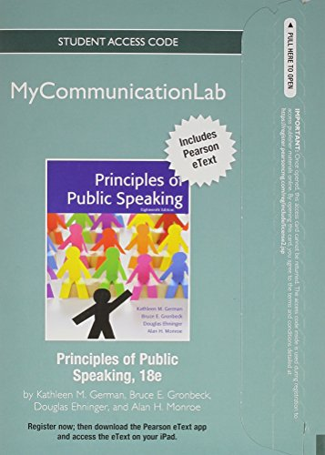 9780205913077: NEW MyCommunicationLab with Pearson eText -- Standalone Access Card -- for Principles of Public Speaking (18th Edition)