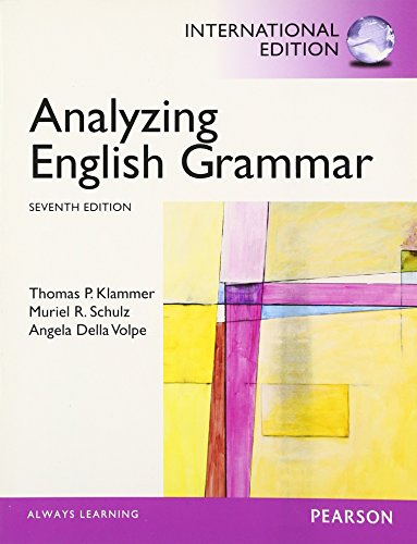 9780205913596: Analyzing English Grammar