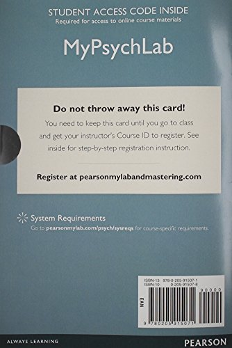 9780205915071: New Mypsychlab Without Pearson Etext -- Standalone Access Card -- For Psychology: From Inquiry to Understanding