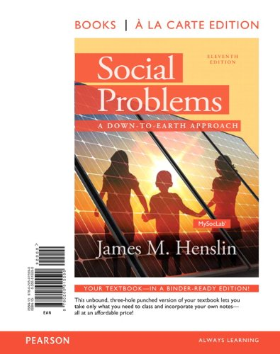 9780205915590: Social Problems: A Down to Earth Approach, Books a la Carte (11th Edition)