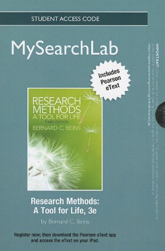 9780205916276: MySearchLab with Pearson eText -- Standalone Access Card -- for Research Methods: A Tool for Life (3rd Edition) (MySearchLab (Access Codes))