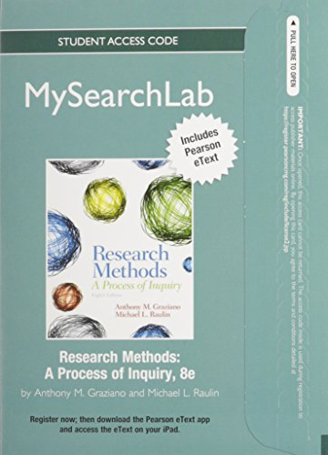 9780205916603: MySearchLab with Pearson eText -- Standalone Access Card -- for Research Methods: A Process of Inquiry (8th Edition) (MySearchLab (Access Codes))