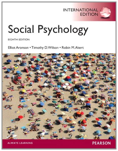 Social psychology, 8th edition: elliot aronson: 9789332536463.