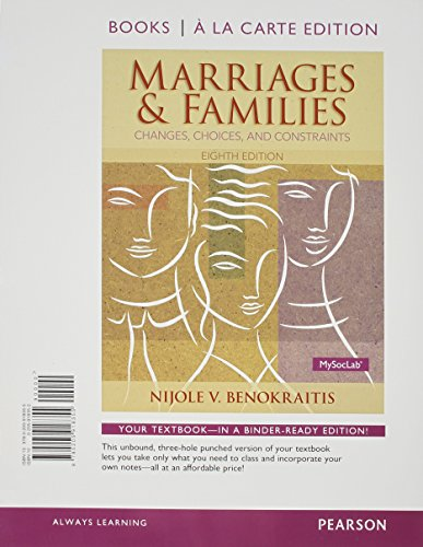 9780205918355: Marriages and Families, Books a la Carte Edition (8th Edition)