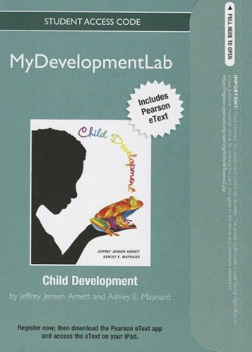 9780205919918: NEW MyDevelopmentLab with Pearson eText -- Standalone Access Card -- for Child Development: A Cultural Approach (Mydevelopmentlab (Access Codes))