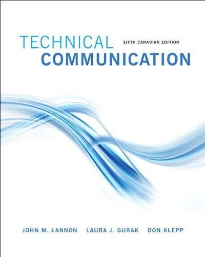 9780205925841: Technical Communications, Sixth Canadian Edition (6th Edition)