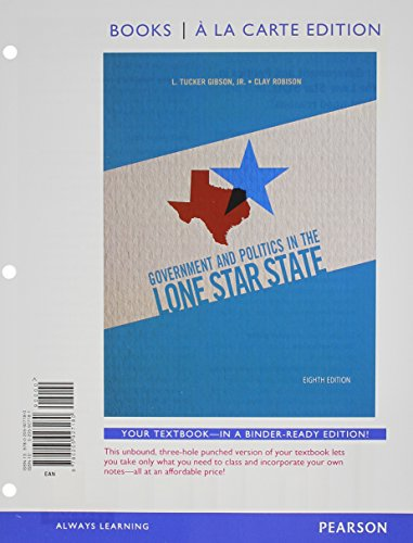 9780205927302: Government and Politics in the Lone Star State, Books a la Carte Plus MyPoliSciLab with eText -- Access Card Package (8th Edition)