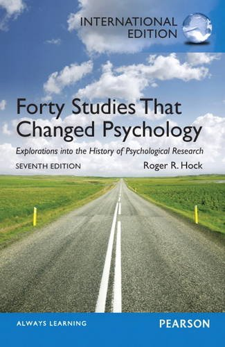 9780205927333: Forty Studies that Changed Psychology: International Edition
