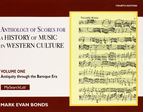 9780205927975: 1: Anthology of Scores Volume I for History of Music in Western Culture