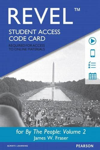 9780205929009: REVEL for By the People: Volume 2 -- Access Card