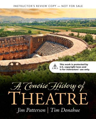 9780205930043: A CONCISE HISTORY OF THEATRE TEACHER'S EDITION [PAPERBACK]