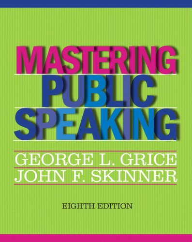 9780205930227: Mastering Public Speaking Plus NEW MyCommunicationLab -- Access Card Package (8th Edition)