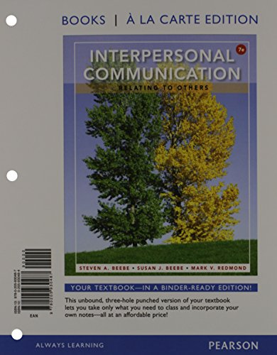 9780205930500: Interpersonal Communication: Relating to Others: Relating to Others, The, Books a la Carte Plus NEW MyCommLab with eText -- Access Card Package (7th Edition)