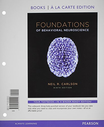 9780205930814: Foundations of Behavioral Neuroscience, Books a la Carte Plus NEW MyPsychLab with eText -- Access Card Package (9th Edition)