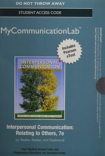 9780205931026: NEW MyCommunicationLab with Pearson eText -- Standalone Access Card -- for Interpersonal Communication: Relating to Others (7th Edition)