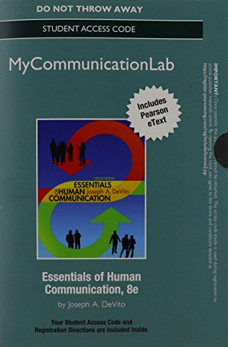 9780205931064: NEW MyCommunicationLab with Pearson eText -- Standalone Access Card -- for Essentials of Human Communication (8th Edition)