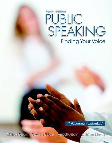 9780205931095: Public Speaking: Finding Your Voice