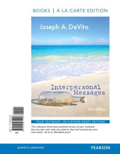 9780205931927: Interpersonal Messages, Books a la Carte Edition (3rd Edition)