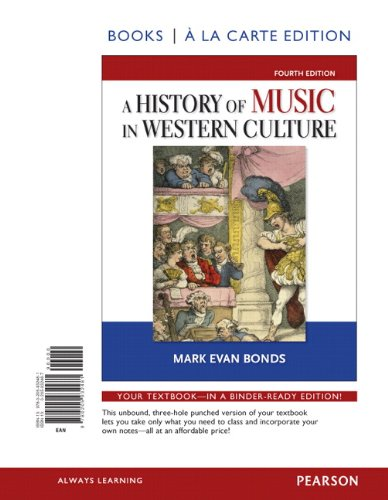 9780205932481: History of Music in Western Culture, Books a la Carte Edition (4th Edition)