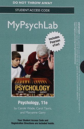 NEW MyPsychLab with Pearson eText -- Standalone: Carole Wade; Carol