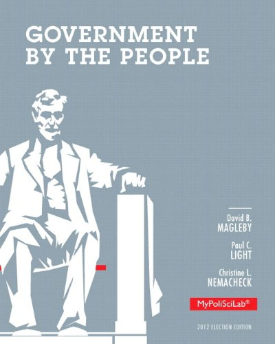 9780205938216: Government By The People MyPoliSciLab Access Code: 2012 Election Edition: Includes Pearson eText