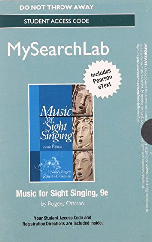 mymusiclab for music standalone access card for sight singing 8th edition