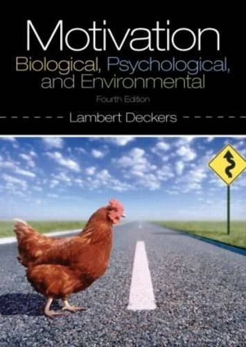 9780205941018: Motivation: Biological, Psychological, and Environmental, Fourth Edition