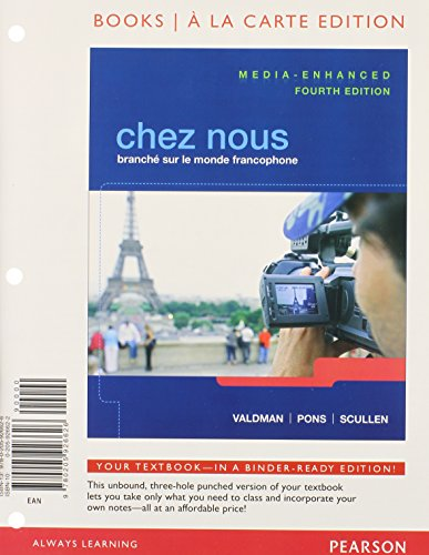 9780205941940: Chez nous: Branché sur le monde francophone, Media-Enhanced Version, Books a la Carte Edition, MyFrenchLab with Pearson eText, and Oxford FRENCH PENQUIN DICTIONARY