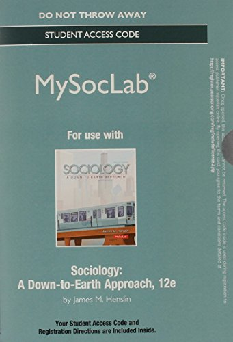 9780205942800: Sociology MySocLab Access Code: A Down-to-Earth Approach