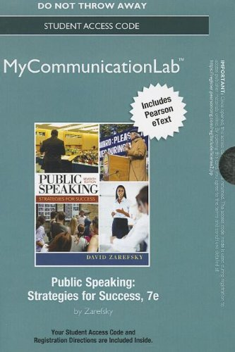 9780205943203: NEW MyCommunicationLab with Pearson eText --Standalone Access Card-- for Public Speaking (7th Edition)
