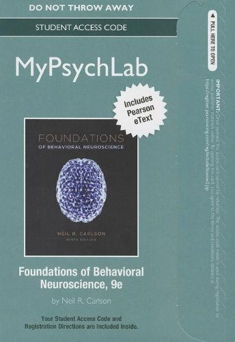 9780205945498: NEW MyPsychLab with Pearson eText -- Standalone Access Card -- for Foundations of Behavioral Neuroscience (9th Edition) (Mypsychlab (Access Codes))