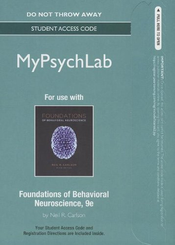 9780205945511: NEW MyPsychLab -- Standalone Access Card -- for Foundations of Behavioral Neuroscience (9th Edition) (Mypsychlab (Access Codes))