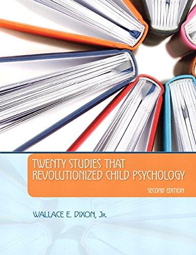 9780205948031: Twenty Studies That Revolutionized Child Psychology (2nd Edition)
