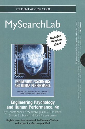 9780205950317: MySearchLab with eText -- Standalone Access Card -- Engineering Psychology and Human Performance (4th Edition)