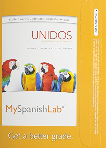 9780205950959: MySpanishLab with eText -- Standalone Access Card -- for Unidos (multi-semester)