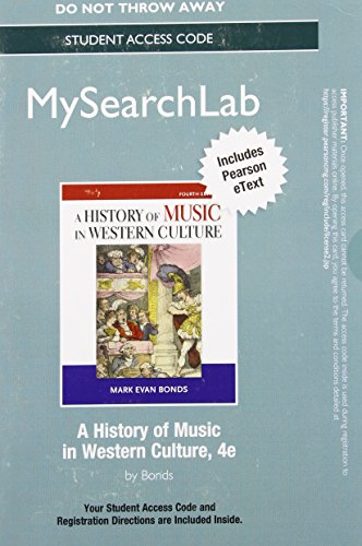 9780205952144: MySearchLab with Pearson eText -- Standalone Access Card -- for History of Music in Western Culture (4th Edition)