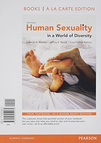 Human Sexuality in a World of Diversity,: Rathus, Spencer A.,