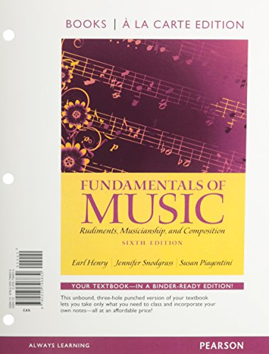 9780205953967: Fundamentals of Music, Books a la Carte Plus MySearchLab with eText -- Access Card Package (6th Edition)