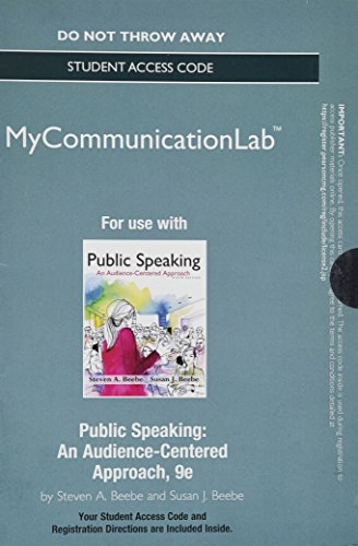 9780205955107: NEW MyCommunicationLab without Pearson eText -- Standalone Access Card -- for Public Speaking: An Audience-Centered Approach (9th Edition)