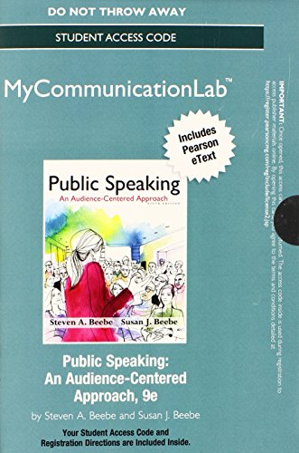 9780205955114: NEW MyLab Communication with Pearson eText -- Standalone Access Card -- for Public Speaking: An Audience-Centered Approach (Mycommunicationlab (Access Codes))