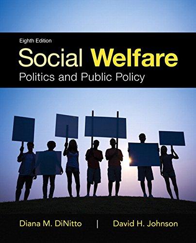 Social Welfare: Politics and Public Policy: Dinitto, Diana M.; Johnson, David W.
